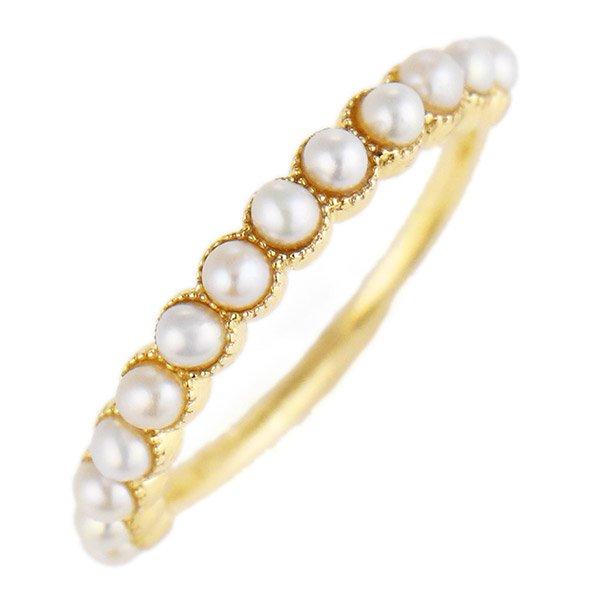 デザインリング 指輪 K10YG 淡水パール ファッション 人気 ゴールド 重ね付け おしゃれ