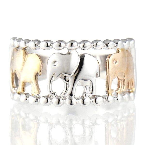 デザインリング 指輪 K10YG・PG・WG 象 ファッション 人気 ゴールド 重ね付け おしゃれ