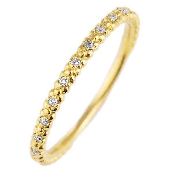 デザインリング 指輪 K18YG ダイヤモンド ファッション 人気 18金 ゴールド 重ね付け おしゃれ