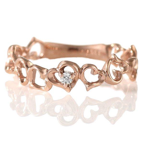 ダイヤモンド リング 指輪 人気 レディース プレゼント ピンクゴールド ハート