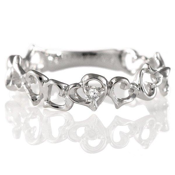 ダイヤモンド リング 指輪 人気 レディース プレゼント ホワイトゴールド ハート
