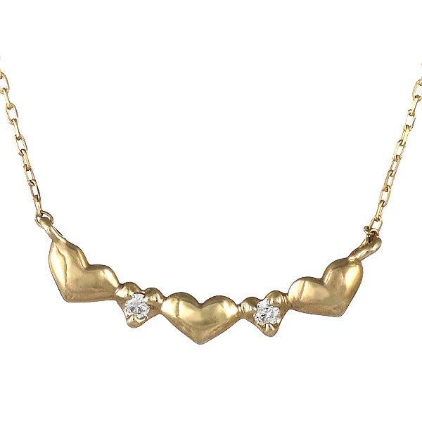 ネックレス ダイヤモンド ハート K10イエローゴールド プレゼント