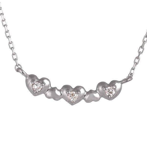ネックレス ダイヤモンド ハート K10ホワイトゴールド プレゼント