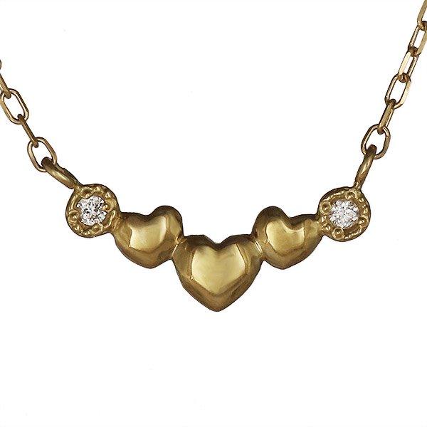 ネックレス ダイヤモンド ハート K18ピンクゴールド プレゼント