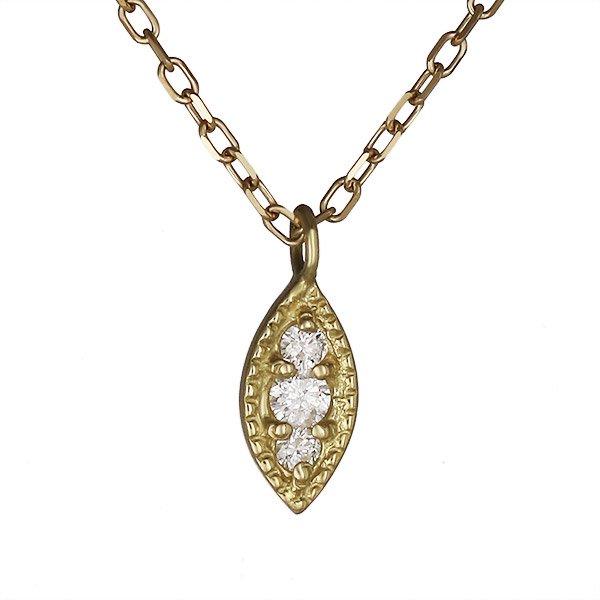 ネックレス ダイヤモンド シンプル K18イエローゴールド プレゼント