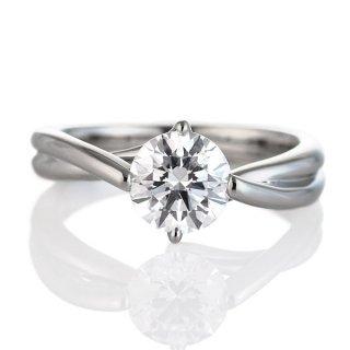 プラチナ 1カラット ダイヤモンド ダイヤ リング ソリティア 一粒 大粒