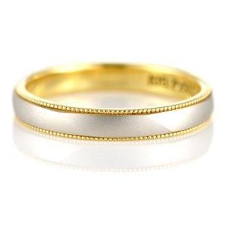 結婚指輪 マリッジリング ペアリング プラチナ K18 et toi エトワ ミル打ち