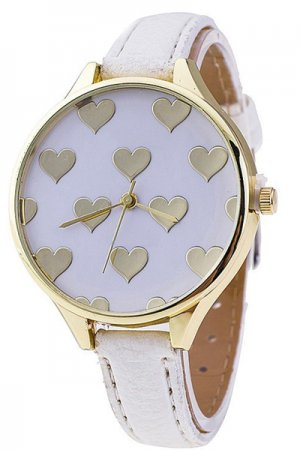<img class='new_mark_img1' src='https://img.shop-pro.jp/img/new/icons20.gif' style='border:none;display:inline;margin:0px;padding:0px;width:auto;' />【セール】Gold Heart Watch (White)