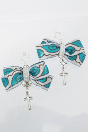 XTS China BlueWhite Ribbon Earring