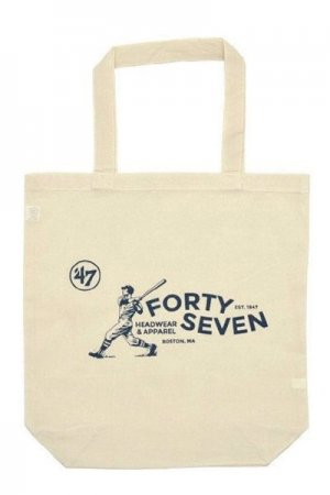 47 Forty Seven Logo Print Cotton Tote