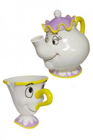【セール】Beauty And The Beast Chip And Mrs. Potts Tea Set