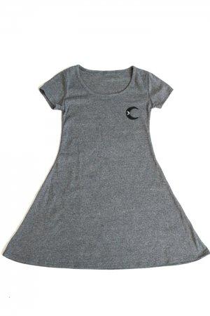 【セール】XTS Moon Patch Mini Dress (Dark Gray)