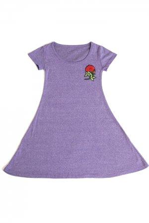 <img class='new_mark_img1' src='https://img.shop-pro.jp/img/new/icons20.gif' style='border:none;display:inline;margin:0px;padding:0px;width:auto;' />【セール】XTS Rose Patch Mini Dress (Purple)