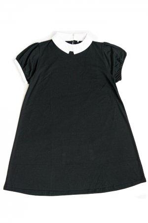 【セール】A-Line Collar Girly Mini Dress (Black)