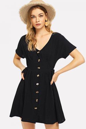 【セール】Knot Side Single Breasted Dress