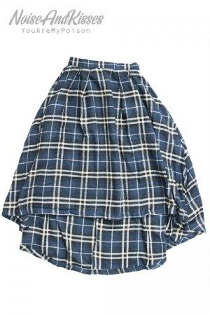 Long Frill Skirt (Blue)