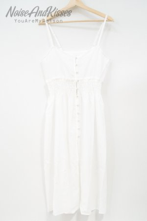 【セール】Sheer Shirring Camisole Dress (White)