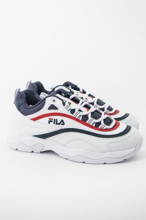 【7周年セール】FILA FILARAY Sneaker (White/Navy/Red)