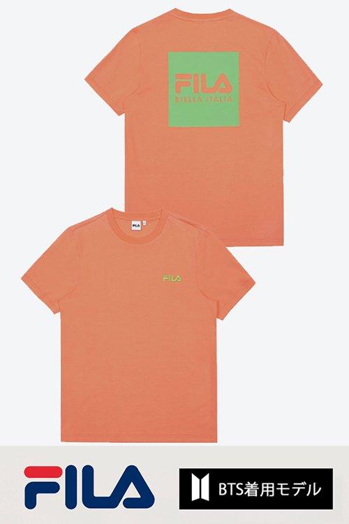 <img class='new_mark_img1' src='https://img.shop-pro.jp/img/new/icons20.gif' style='border:none;display:inline;margin:0px;padding:0px;width:auto;' />【PRICE DOWN】FILA BTS着用モデル Tシャツ (Orange)