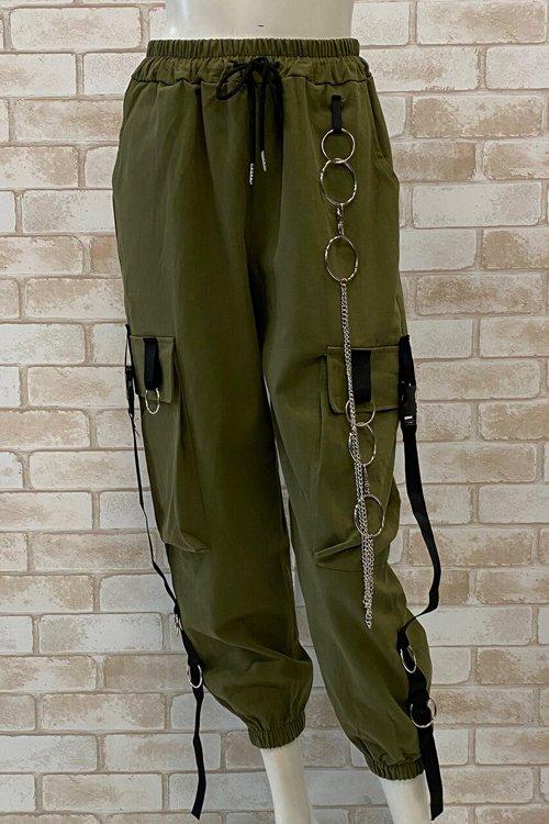 【周年セール】Cargo Pants w/Chain (Khaki)