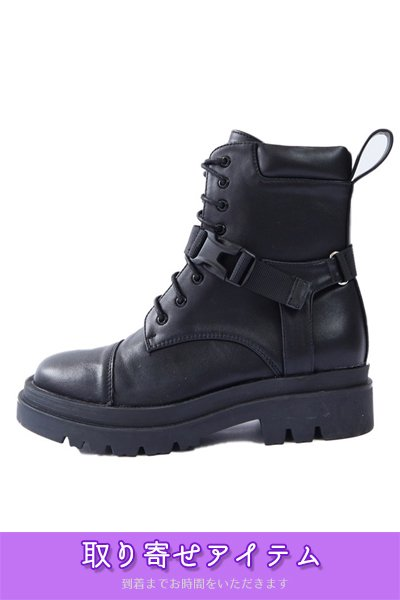 <img class='new_mark_img1' src='https://img.shop-pro.jp/img/new/icons32.gif' style='border:none;display:inline;margin:0px;padding:0px;width:auto;' />【予約】Buckle Belt Military Boots (Black)【5月下旬までに発送予定】