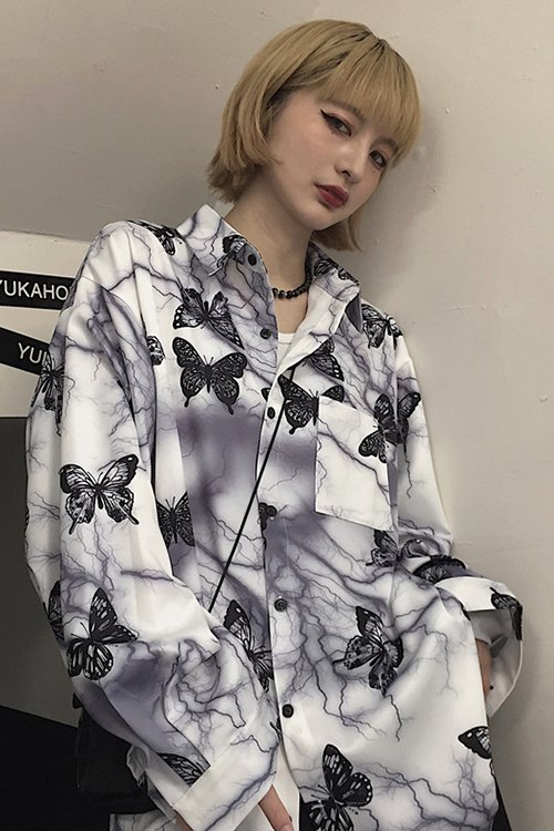 <img class='new_mark_img1' src='https://img.shop-pro.jp/img/new/icons56.gif' style='border:none;display:inline;margin:0px;padding:0px;width:auto;' />Thunder Butterfly L/S Shirt (White)
