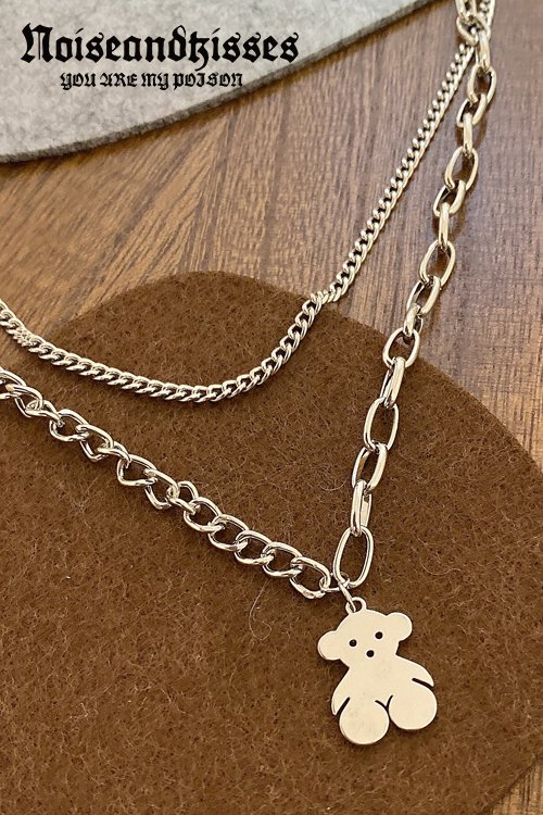 <img class='new_mark_img1' src='https://img.shop-pro.jp/img/new/icons8.gif' style='border:none;display:inline;margin:0px;padding:0px;width:auto;' />Bear Chain Necklace (Silver)