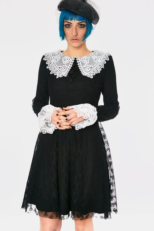 JAWBREAKER Obsidian Spellman Dress (Black)