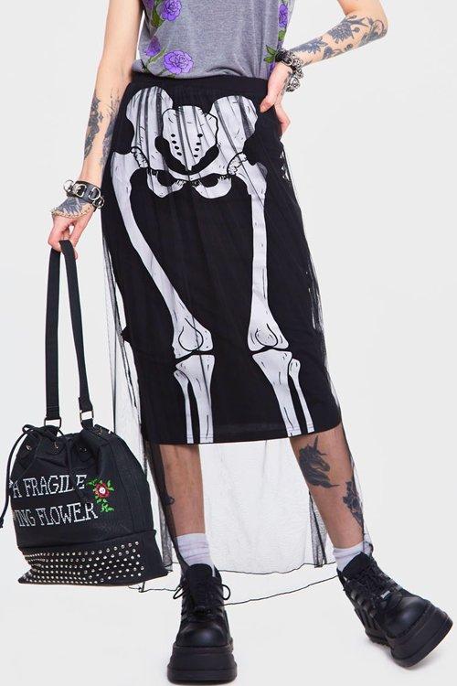JAWBREAKER Skeleton Layer Skirt (Black)