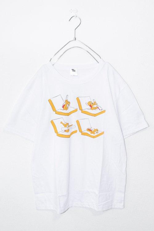 トムとジェリー サンドウィッチTシャツ (White)