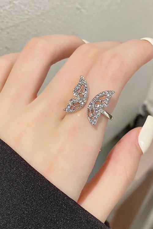 蝶々モチーフリング (Silver)