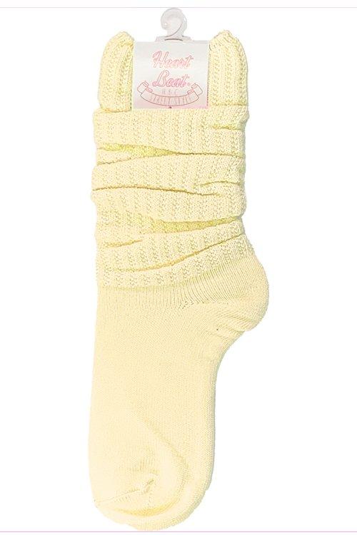 30cm カラールーズソックス (Yellow)