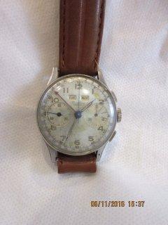 ヴィンテージ 1945年製 ブライトリング ダコタ トリプルデイト クロノグラフ腕時計No.784 586424
