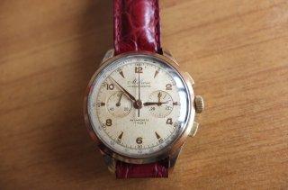 クロノグラフ腕時計 超希少 ビンテージ メルローズ・レマニア1270 手巻き 5ミクロン クロノグラフ