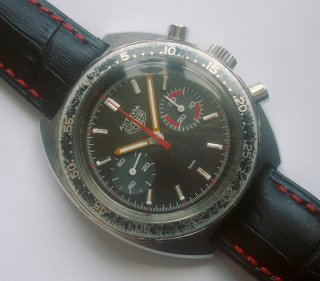 03 70年代 ホイヤー オータビア トロピカルブラウンダイアル メンズ クロノグラフ CAL 7733