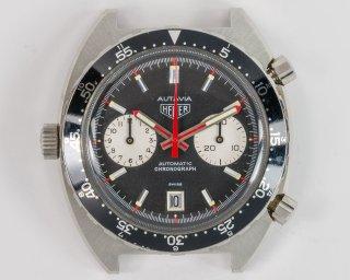02 ヴィンテージ ホイヤー オータビア ヴィセロイ クロノグラフ 1163V 1970年代物
