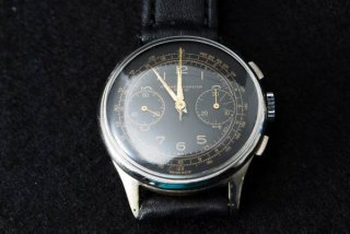 <img class='new_mark_img1' src='https://img.shop-pro.jp/img/new/icons43.gif' style='border:none;display:inline;margin:0px;padding:0px;width:auto;' />BAUME & MERCIER ボーム&メルシエ クロノグラフブラックダイヤル腕時計