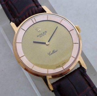 オリジナル ロレックス チェリー二 CAL 1600 ムーブメント搭載 メンズ腕時計 ゴールドフィルドケース リケース済み