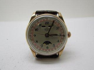 タグホイヤー 純金製ムーンフェイズ 男性用腕時計