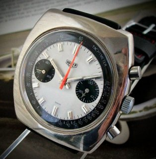 タグ・ホイヤー(ホイヤー・レオニダス) スイス製 ヴィンテージ クロノグラフ メンズ・ウォッチ 1950年代