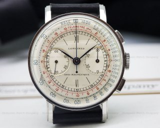<img class='new_mark_img1' src='https://img.shop-pro.jp/img/new/icons43.gif' style='border:none;display:inline;margin:0px;padding:0px;width:auto;' />ロンジン(LONGINES) ヴィンテージ クロノグラフウォッチ 13ZN 1942年頃