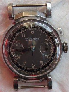 ユリスナルダン クロノグラフ腕時計 メンズ マニュアル式 スチール製ケース スウィング方式