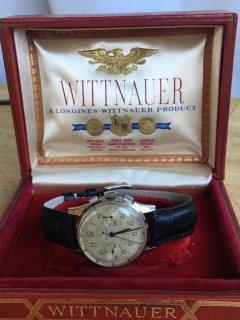 ウィットナー(WITTNAUER)ヴィンテージ ミリタリークロノグラフメンズウォッチ エアフォース・パイロットモデル Valjoux22 1940年代 箱付き