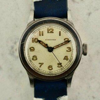 1942年 ヴィンテージ ロンジンWWII ミリタリー トレタケ 腕時計 CAL.120 スチール製