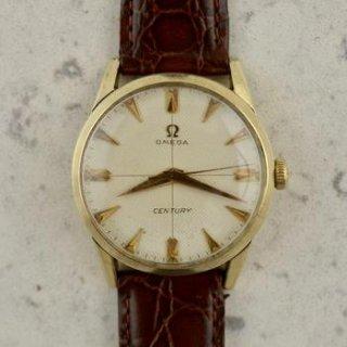 C.1956 ビンテージ オメガ センチュリー ワッフルダイアル腕時計 cal.Ω 283 10カラットイエローゴールドフィルド