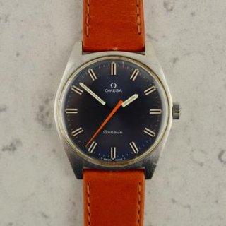 C.1969 ヴィンテージ オメガ ジュネーブ 型番135.041 青文字盤 Cal. Ω 601 スチール製