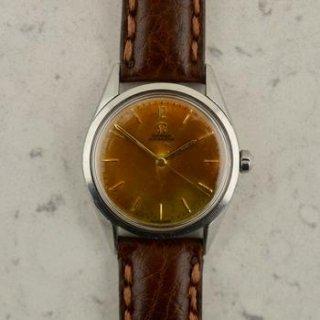 C1954 ヴィンテージ オメガ シーマスター デラックス 自動式 トロピカル 腕時計 型番2802 スチール製