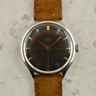 C.1953 ヴィンテージ オメガ 自動式 ジャンボ ワッフルダイアル 腕時計 Ω620 型番 2637-8 スチール製