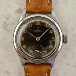 C.1939 ヴィンテージオメガ 機械式(手巻き) ミリタリーカラトラバ 腕時計 CAL.Ω26SOB T3 型番2165 スチール製