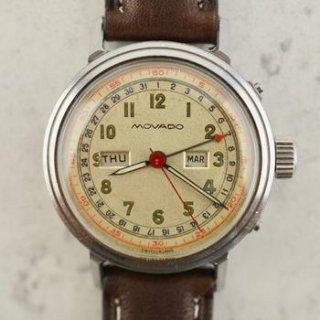 1940年 モバードヴィンテージ カレンドグラフ トリプルカレンダーウォッチ(参考番号:14819) スチール製